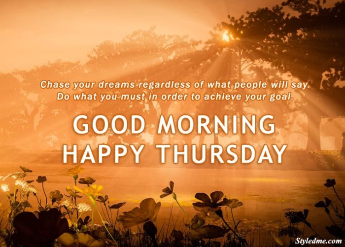 Good morning happy Thursday images