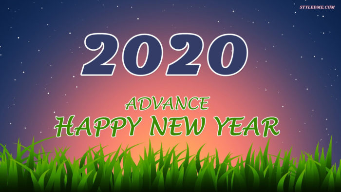 Advance happy New Year 2020 wallpaper