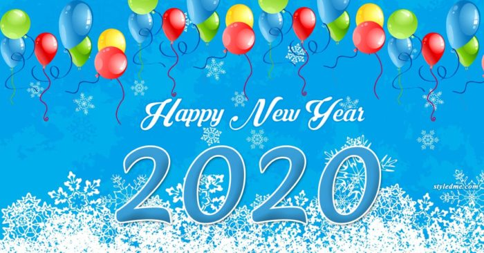 Happy New Year 2020 banner printable