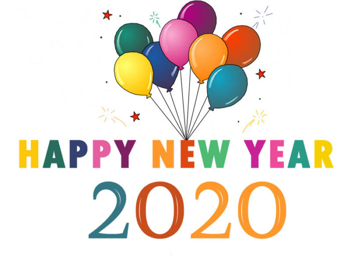 Happy New Year 2020 clip art