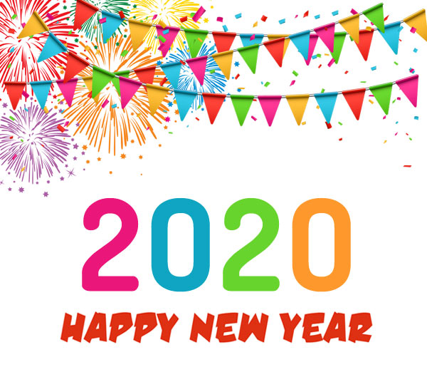 happy new year 2020 clip art banner