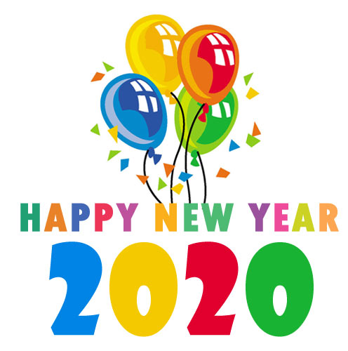 Happy New Year 2020 clipart images free