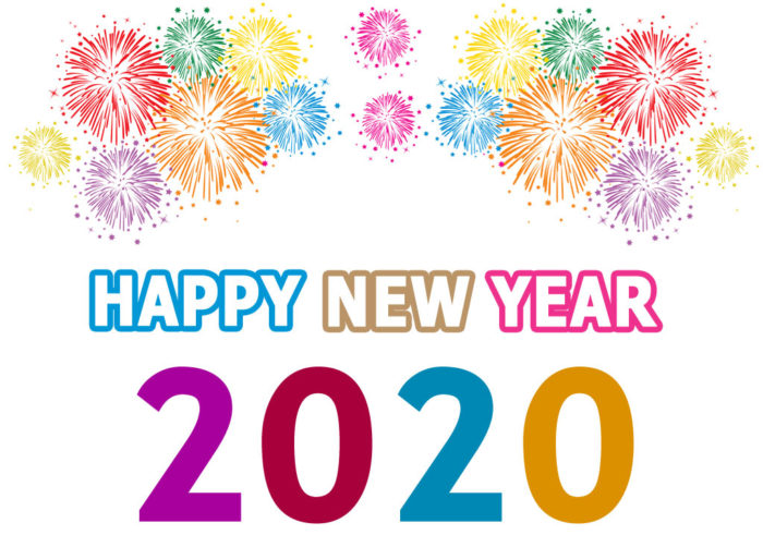 happy new year 2020 clipart wishes