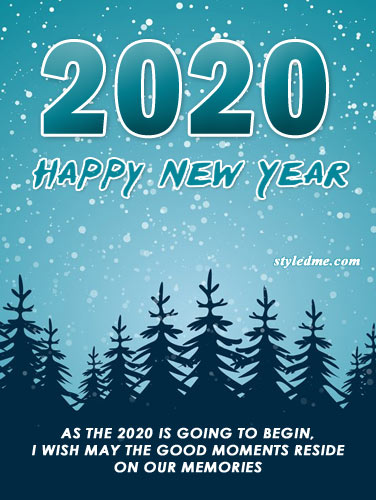 new year 2020 greeting cards photo