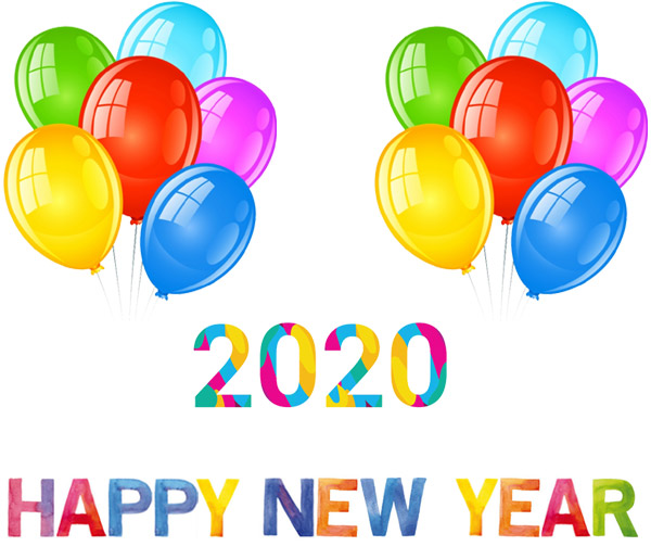 New Year's Day 2020 clipart