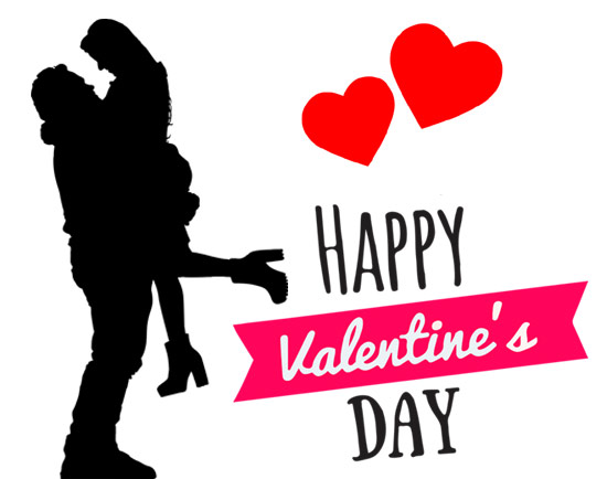 cute valentine couple hearts photo clipart