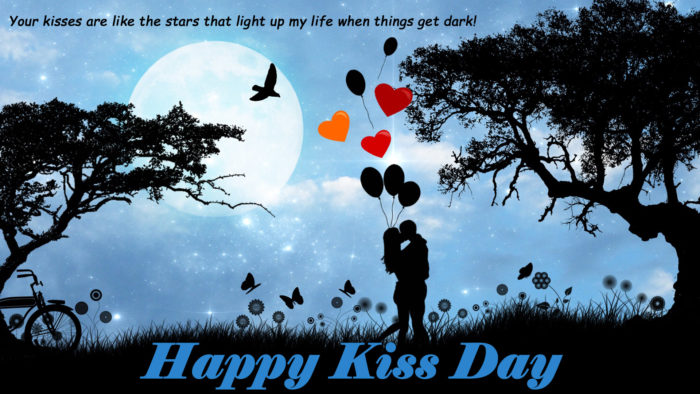 happy kiss day wallpaper free download