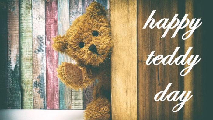happy teddy day hd wallpaper