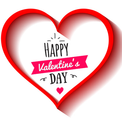 happy valentines day heart clipart frame border