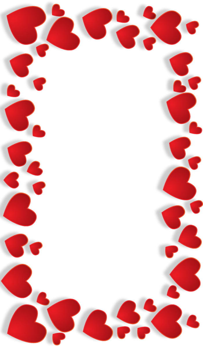 happy valentines day hearts frame border clipart