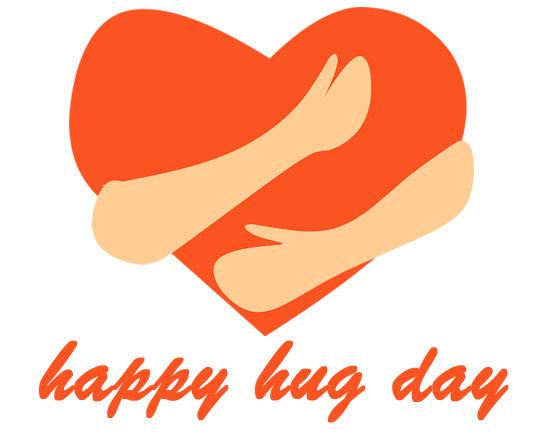 Hug day 2020 clipart