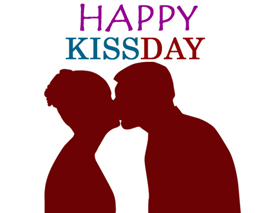 Happy kiss day clipart images