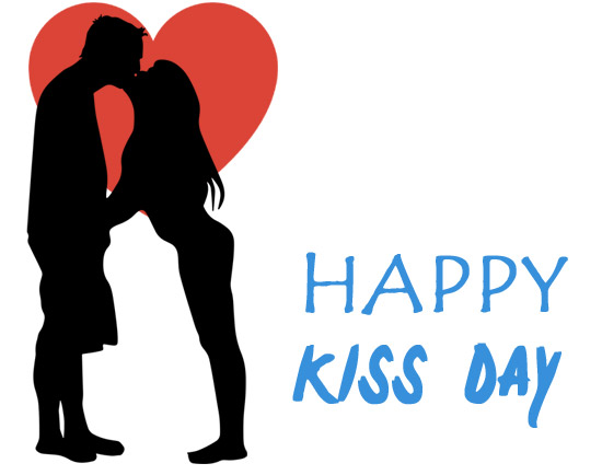 Happy kiss day clipart