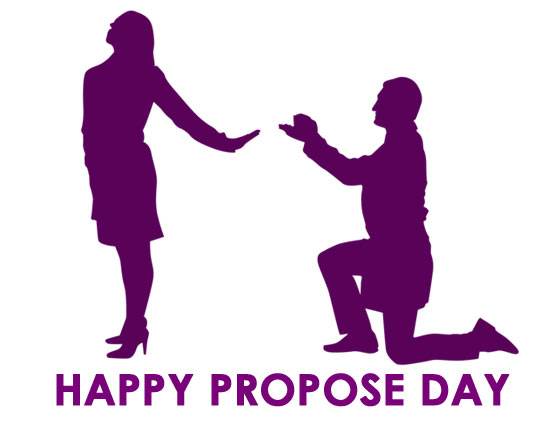 Propose day Clipart couple images
