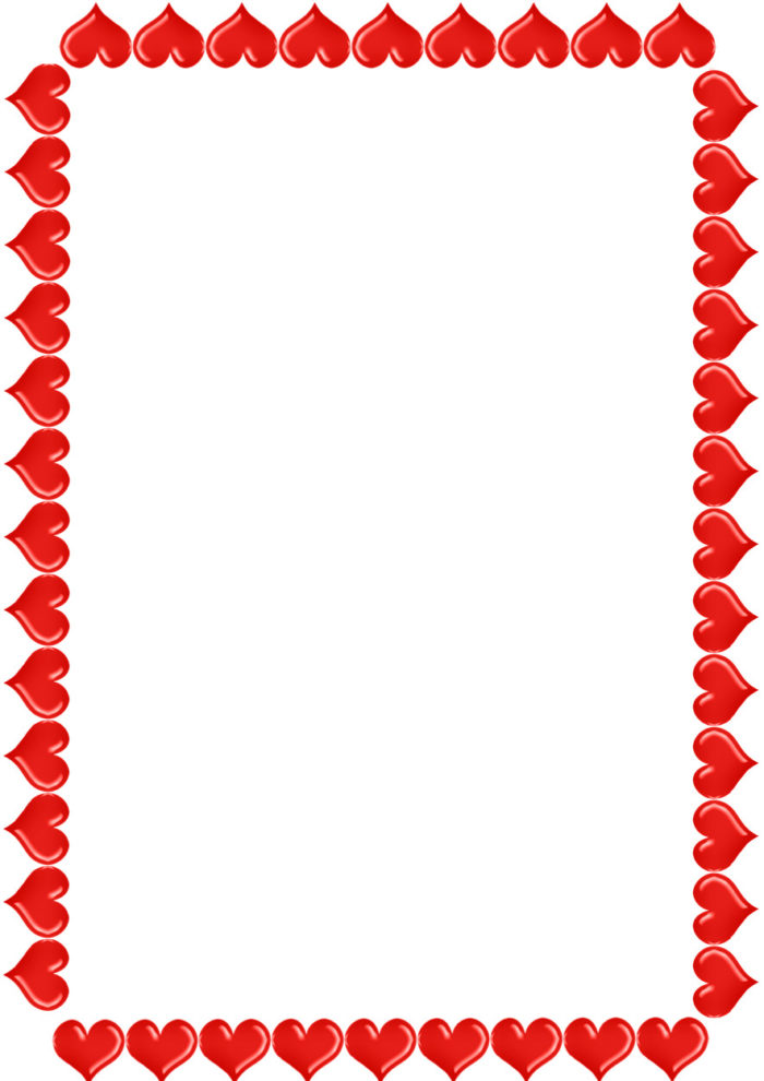 valentine's day heart border frame clipart
