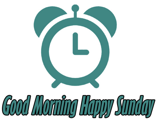 good morning happy sunday clipart