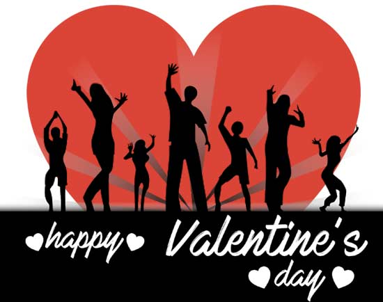 happy valentines day clipart dance