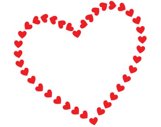heart clipart border white background