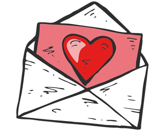 heart clipart love letter