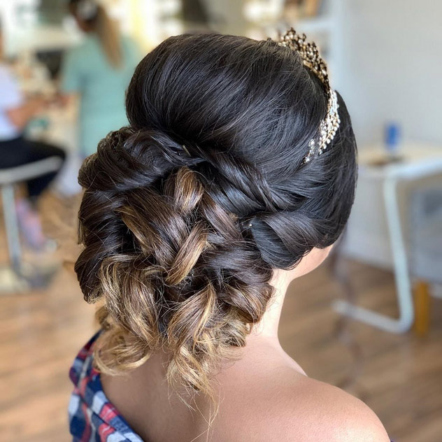 quinceanera hairstyles buns