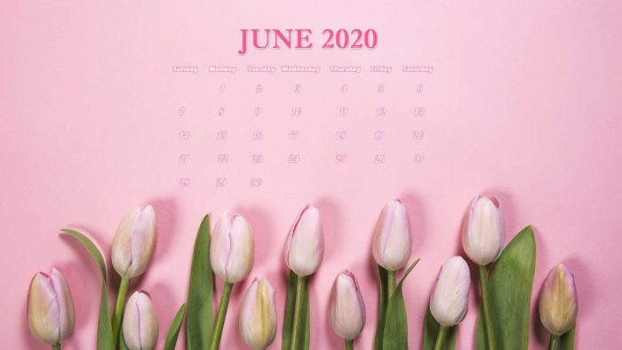 June 2020 calendar laptop wallpaper