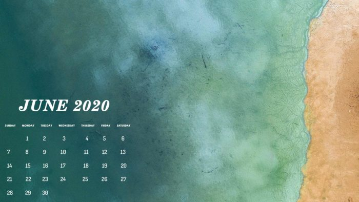 June 2020 calendar wallpaper for desktop