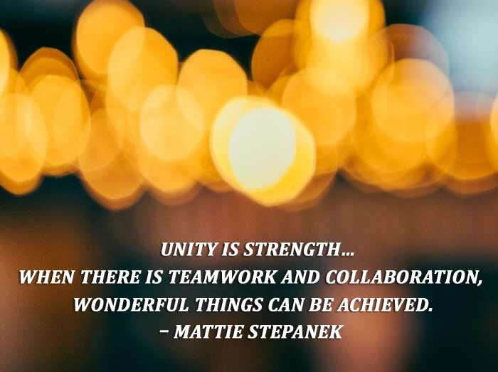 Short inspirational quotes about teamwork and success
