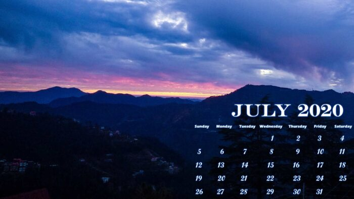 free july 2020 wallpaper desktop laptop