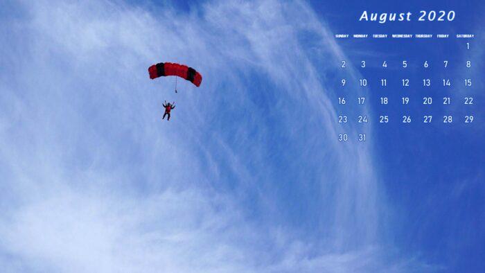 august 2020 calendar wallpaper free download