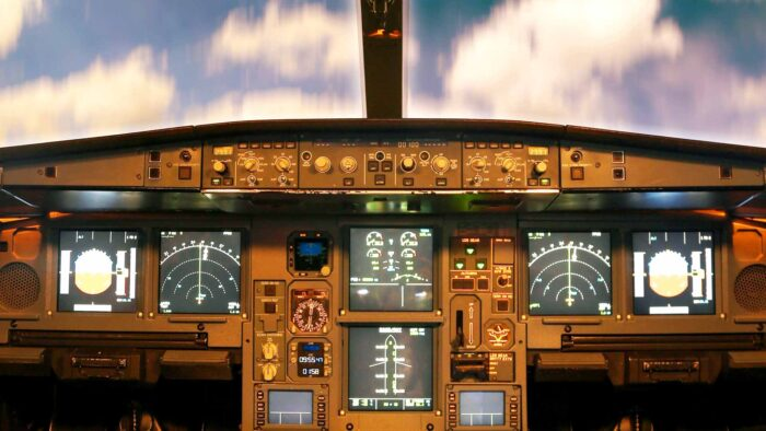 airplane cockpit scene zoom background virtual banner images