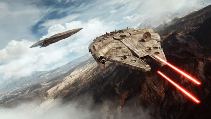 Millennium Falcon Zoom background