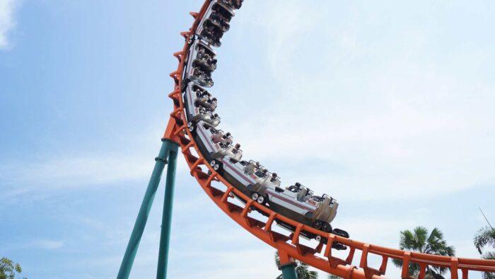 roller coaster zoom background