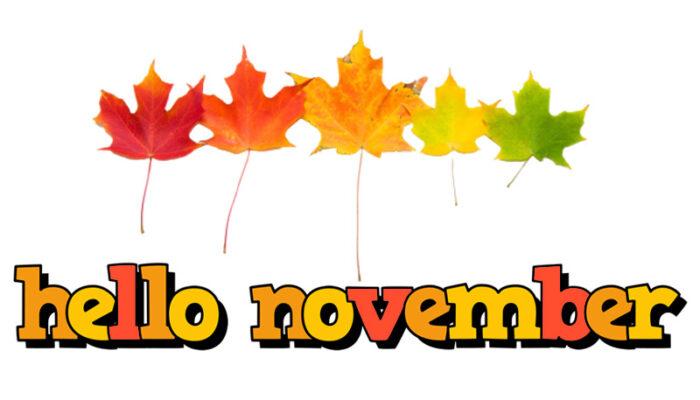 hello november clipart
