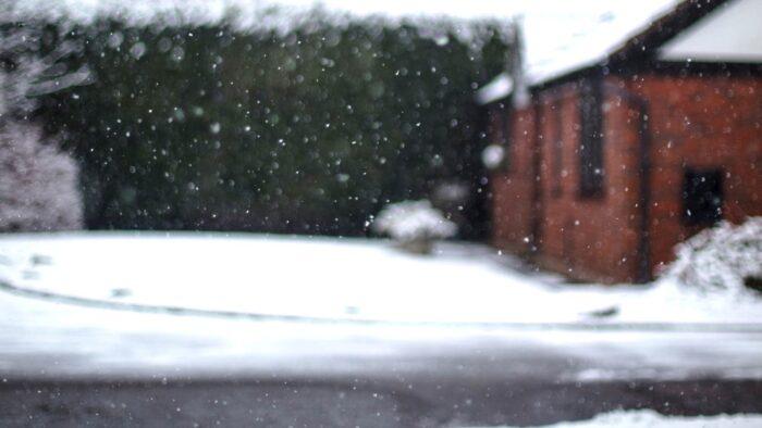 snow zoom background