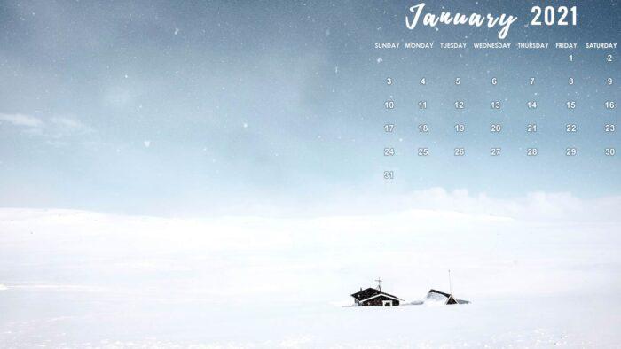 january 2021 calendar computer background wallpaper