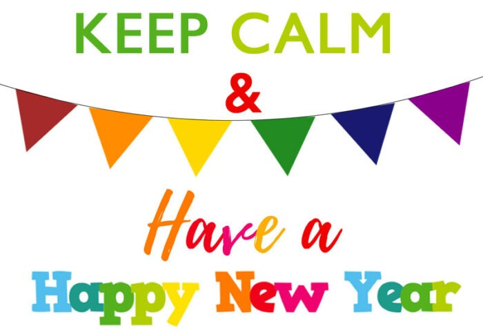 Keep calm and have a happy new year clipart 2022 card images