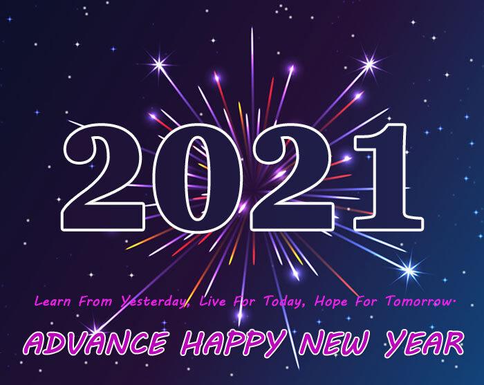 Advance happy New Year 2021 images HD pics