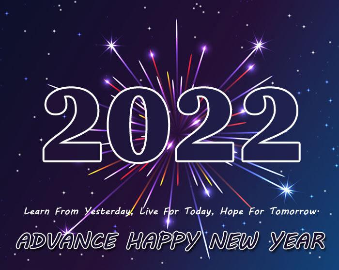 advance happy new year 2022 images HD pics