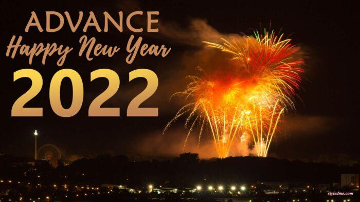 advance happy new year 2022 wallpaper full hd