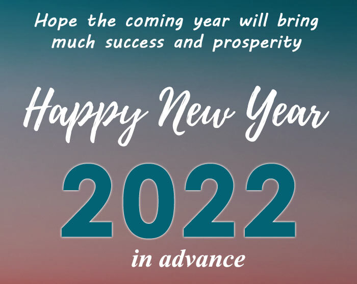 advance happy new year 2022 wishes messages quotes