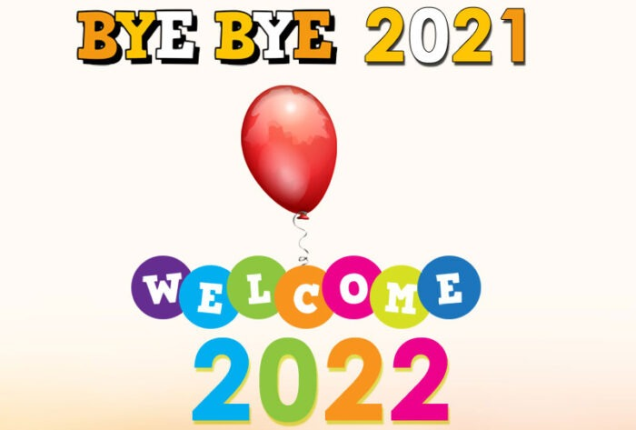 bye bye 2021 welcome 2022 images greetings card banner