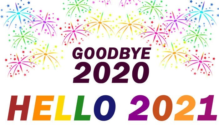 goodbye 2020 hello 2021 clipart banner