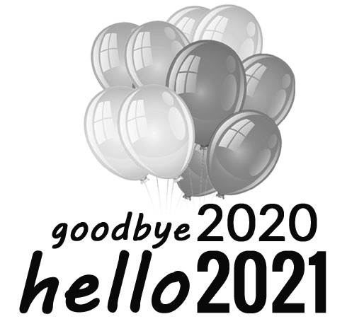 goodbye 2020 hello 2021 clipart black and white