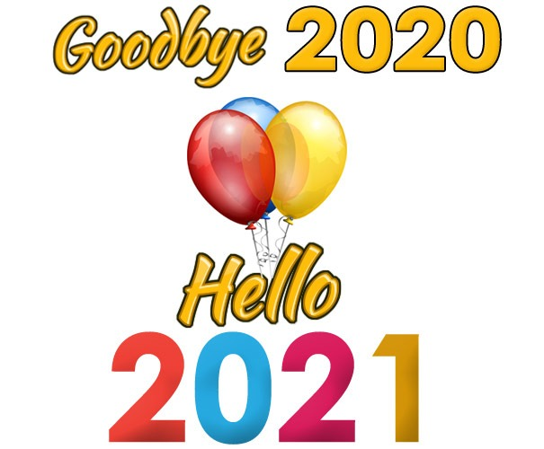 goodbye 2020 hello 2021 clipart