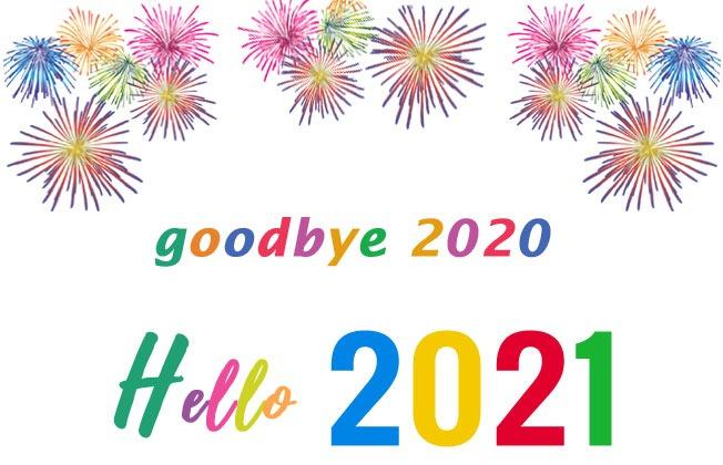 goodbye 2020 hello 2021 photo cards banner clip art