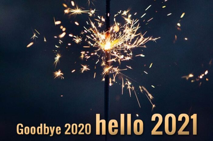 goodbye 2020 hello 2021 wishes greetings card banner