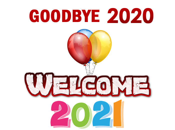 goodbye 2020 welcome 2021 clipart