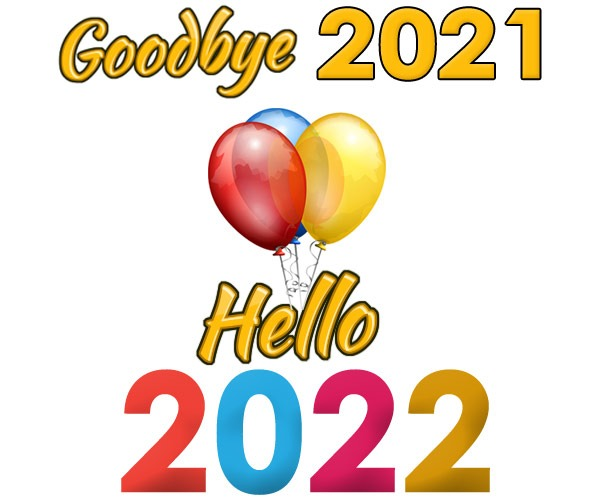 goodbye 2021 hello 2022 clipart