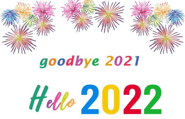 goodbye 2021 hello 2022 photo cards banner clip art
