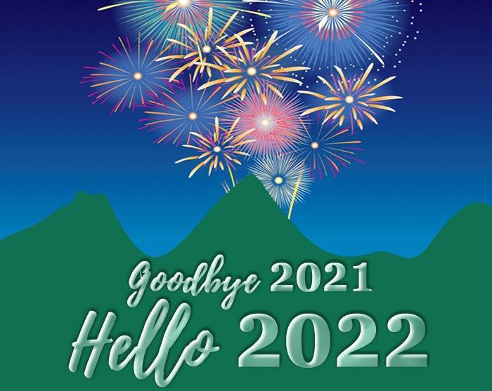 goodbye 2021 hello 2022 pic greetings card